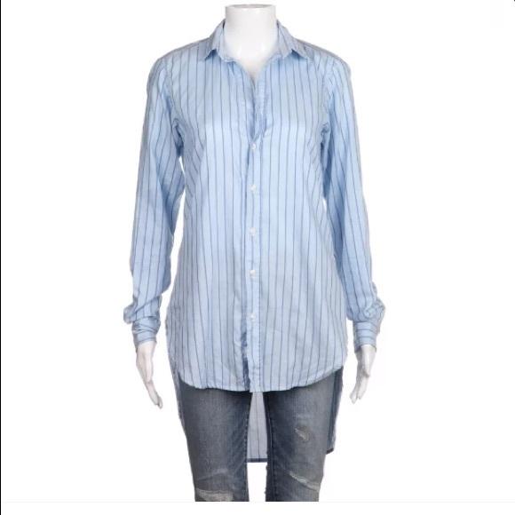 a578c1211 Frank & Eileen Tops   Frank Eileen Blue Striped Tunic Shirt Xs ...